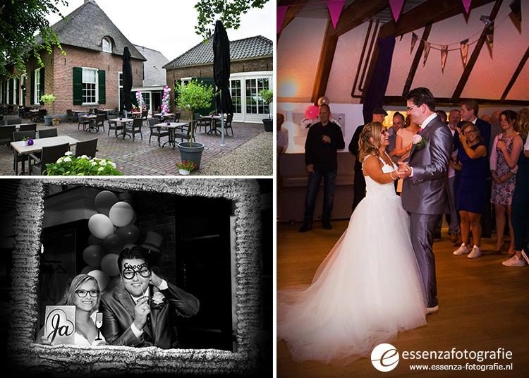 Bruidspaar bij Restaurant de Handschoen in Zwolle