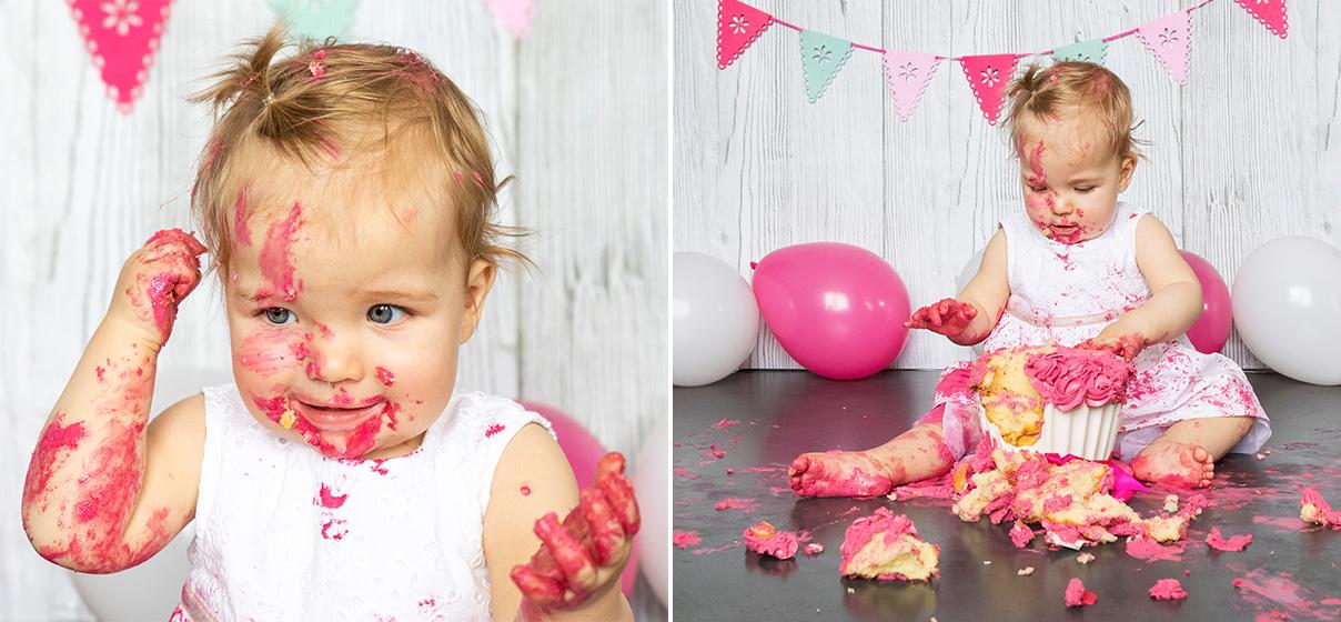 cake smash fotoshoot hoogeveen