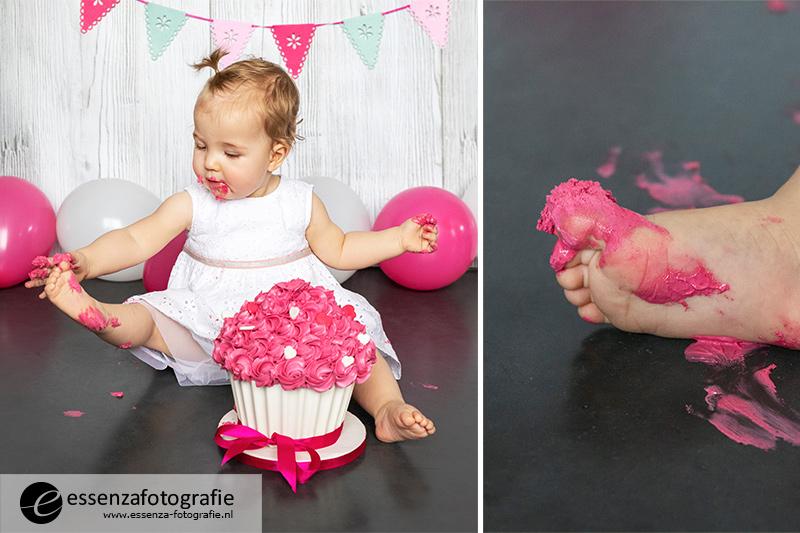 Cake smash meisje