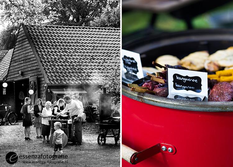 barbecue bruidspaar Koloniekerkje