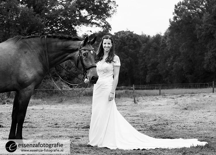 Bruid met paard